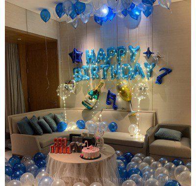 Set sinh nhật xanh cho người yêu âm nhạc