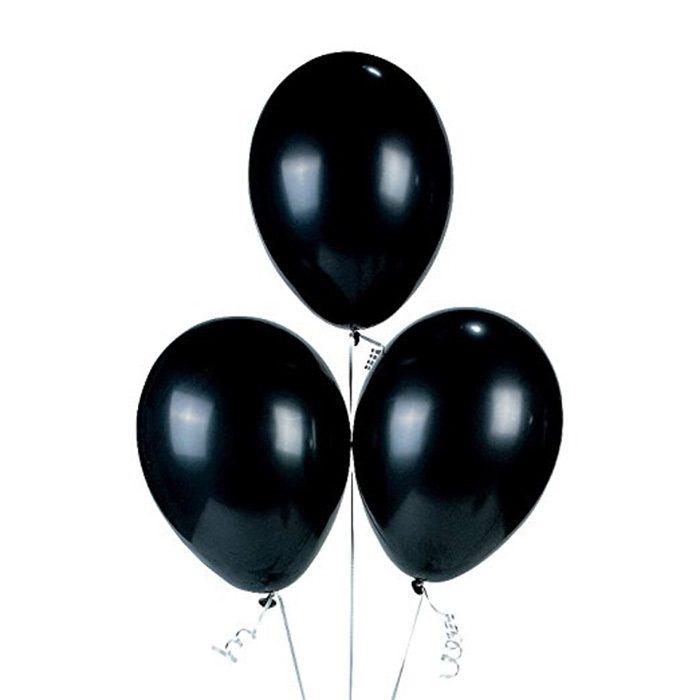 3 quả bong bóng tròn màu đen