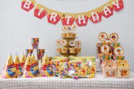 Bán bộ phụ kiện sinh nhật cho bé chủ đề Happy Birthday