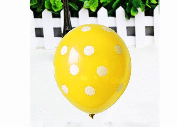 Bong bóng chấm bi màu vàng