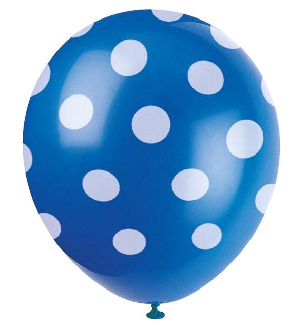 Bong bóng chấm bi màu xanh dương