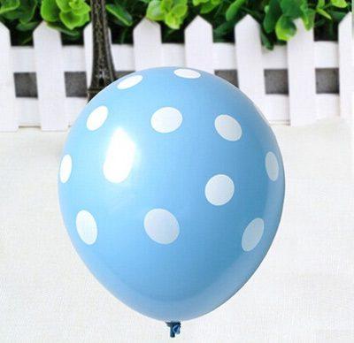 Bong bóng chấm bi màu xanh da trời trang trí tiệc