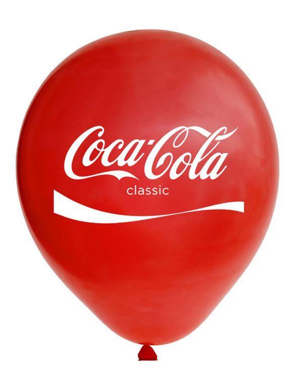 Bong bóng in logo Coca Cola