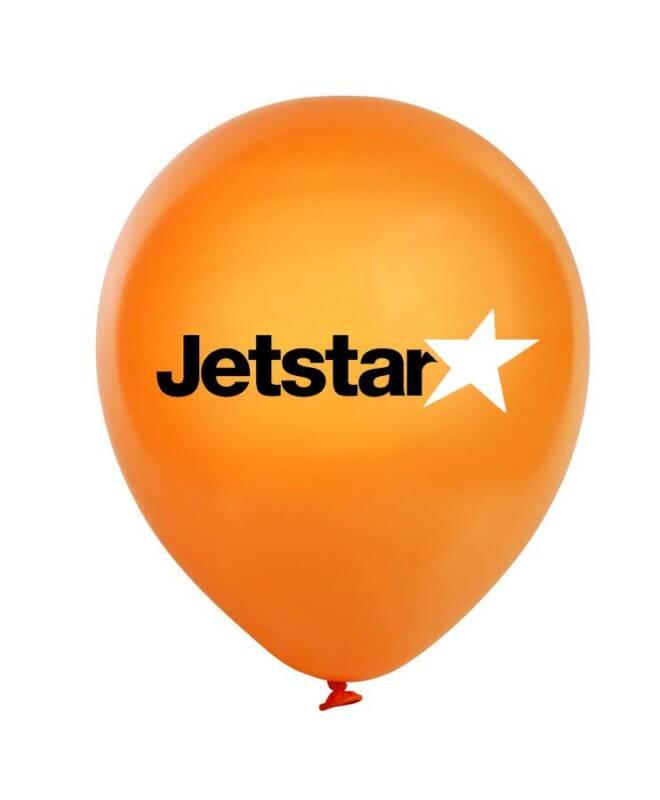 Bong bóng in logo Jetstar