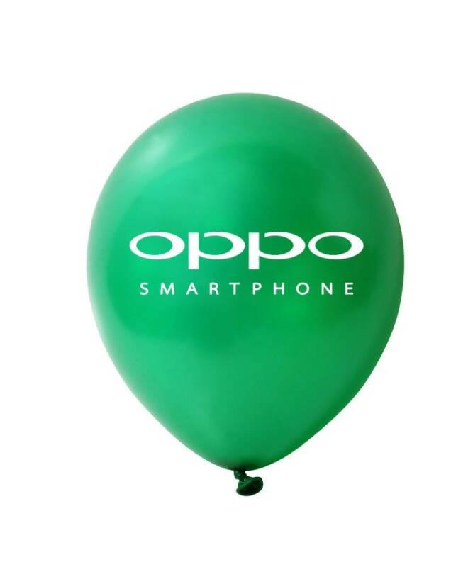 Bong bóng in logo Oppo