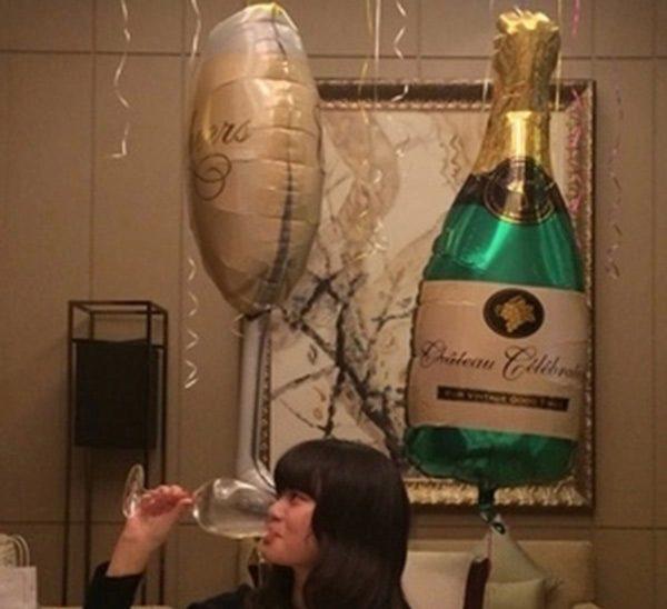 Bong bóng kiếng chai rượu trang trí sinh nhật