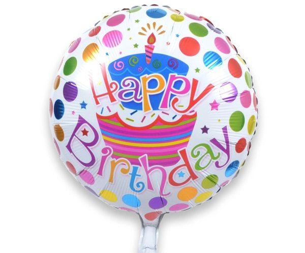 Bong bóng kiếng Happy Birthday tròn