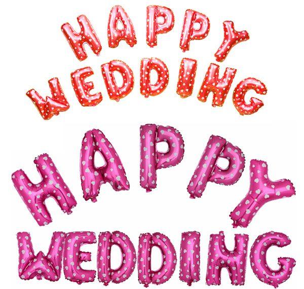 Bong bóng kiếng Happy Wedding