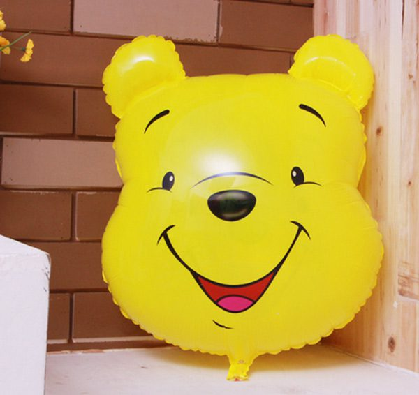 Bong bóng kiếng hình gấu pooh trang trí sinh nhật