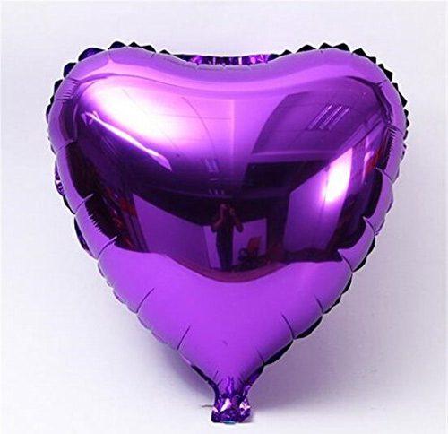 Bong bóng kiếng trái tim nhỏ màu tím