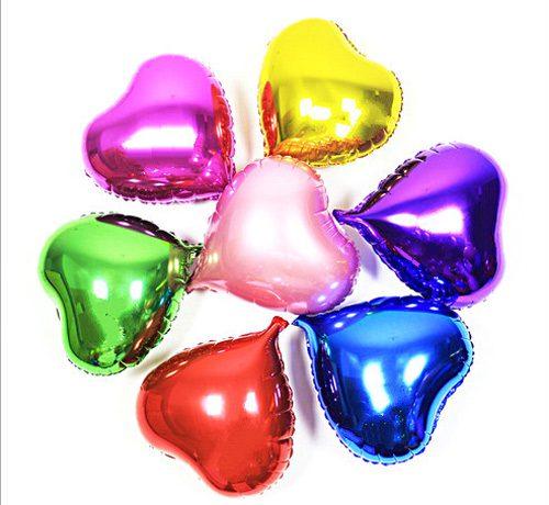 Bong bóng kiếng trái tim nhỏ màu xanh trang trí sinh nhật