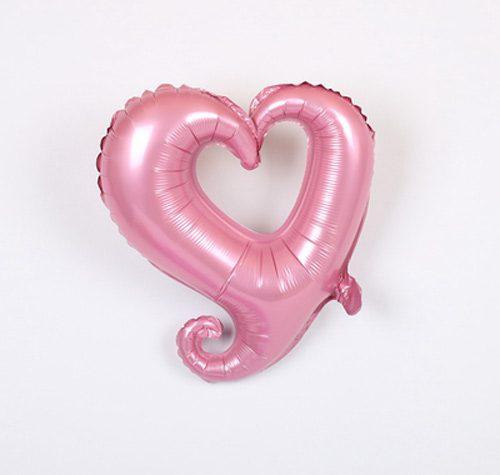 Bong bóng kiếng trái tim tình yêu màu hồng