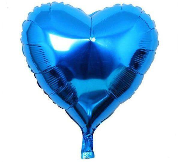 Bong bóng kiếng trái tim trung màu xanh