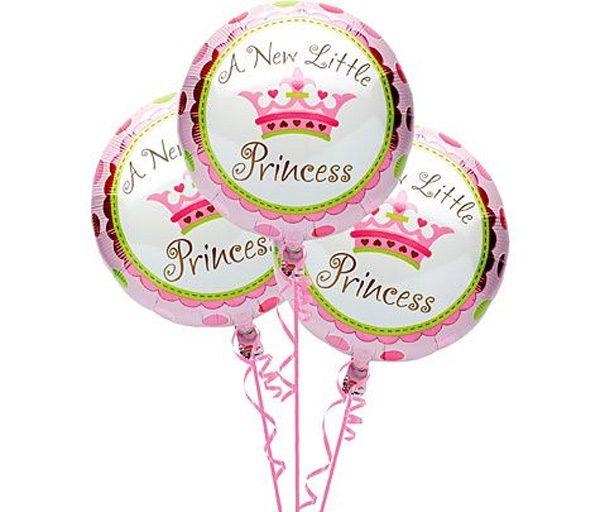 Bong bóng kiếng tròn chủ đề công chúa dùng trong trang trí