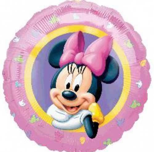 Bong bóng kiếng tròn chủ đề minie trang trí sinh nhật