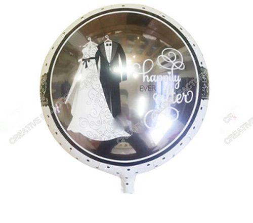 Bong bóng kiếng đám cưới hạnh phúc