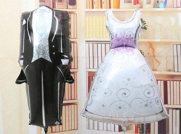 Bong bóng kiếng váy cô dâu trang trí