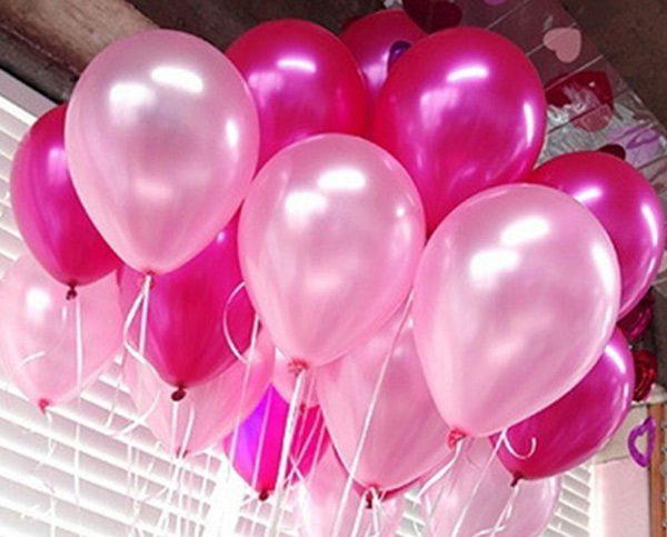 Bong bóng nhủ màu hồng phấn trang trí tiệc