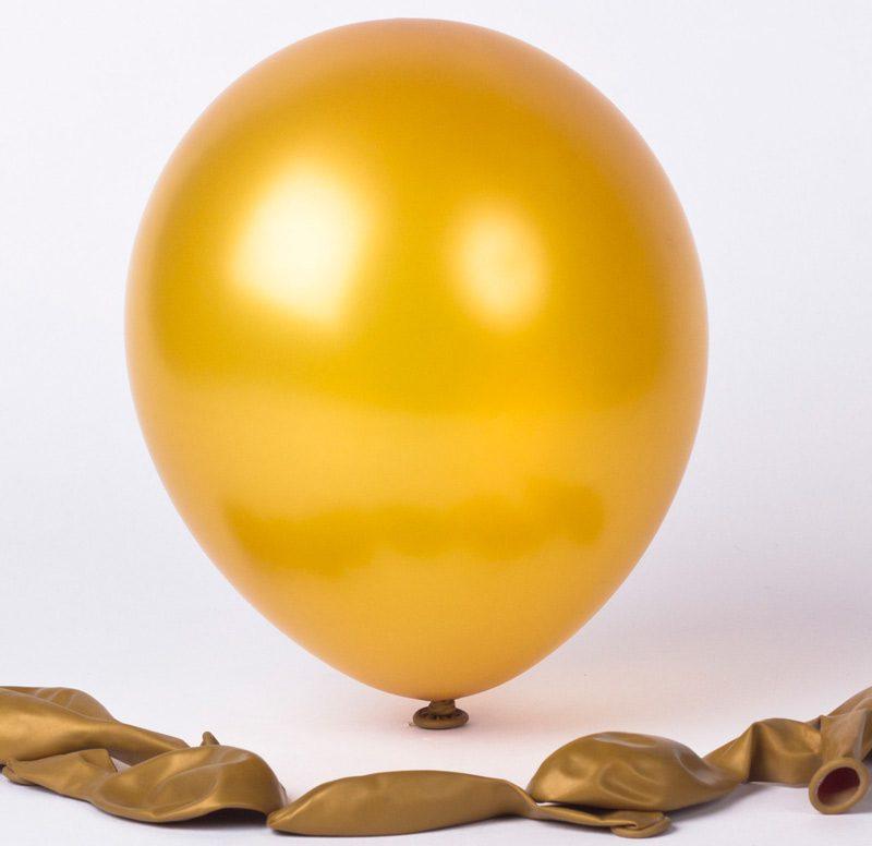 Bong bóng nhũ màu vàng đồng