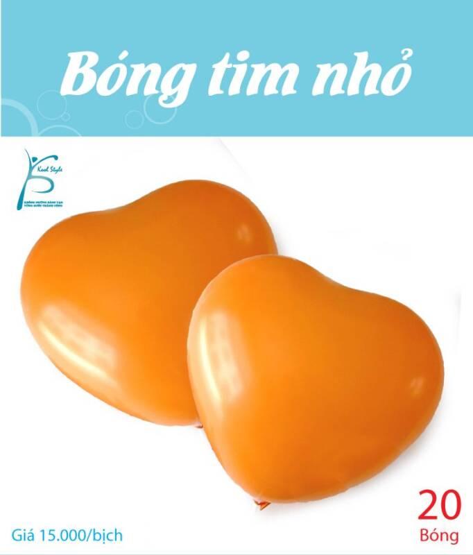 Bong bóng trái tim nhỏ màu cam