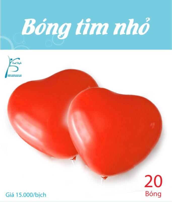 Bong bóng trái tim nhỏ màu đỏ