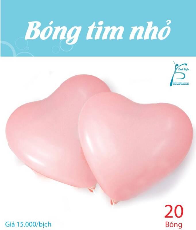 Bong bóng trái tim nhỏ màu hồng