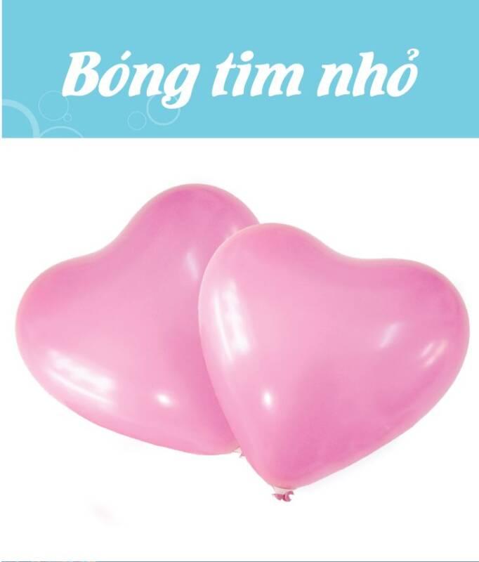 Bong bóng trái tim nhỏ màu hồng sen