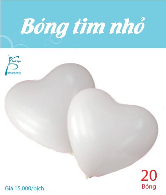 Bong bóng trái tim nhỏ màu trắng