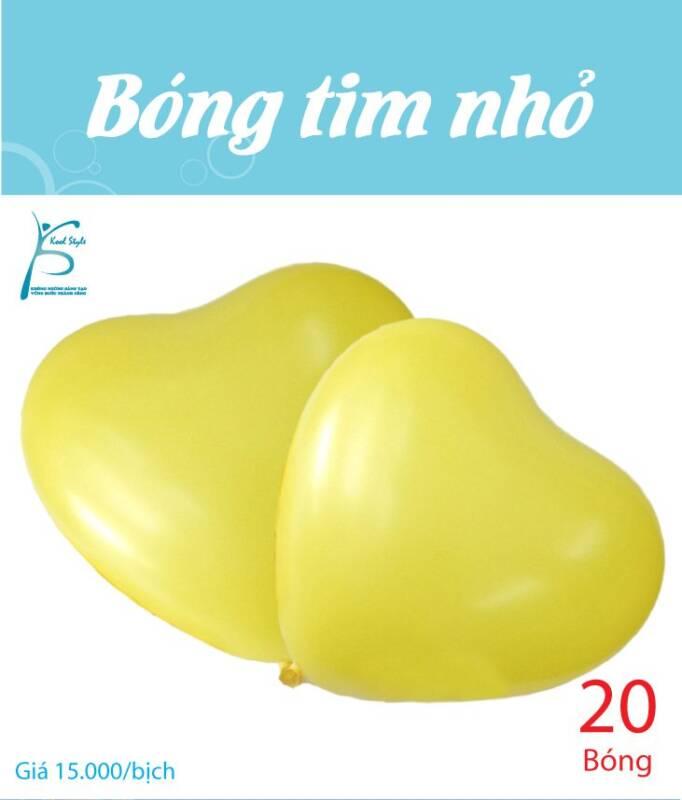 Bong bóng trái tim nhỏ màu vàng