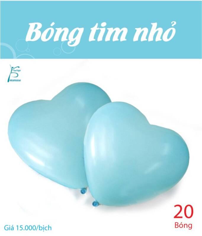 Bong bóng trái tim nhỏ màu xanh da trời