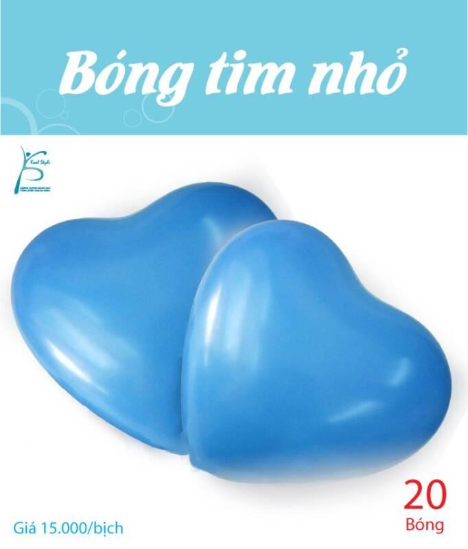 Bong bóng trái tim nhỏ màu xanh dương