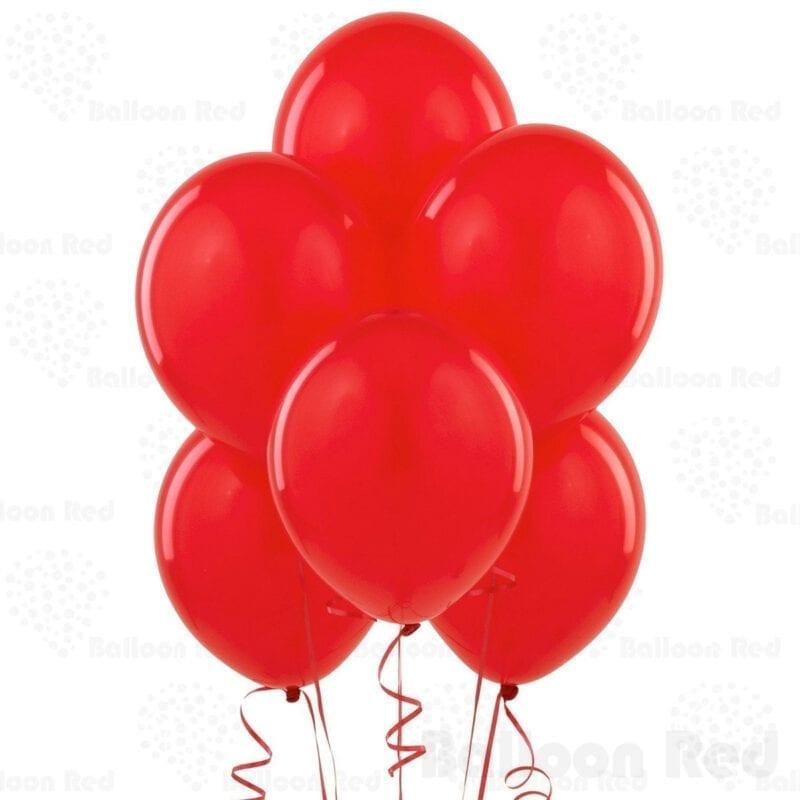 Bong bóng tròn màu đỏ
