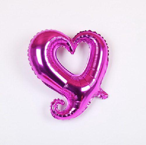 Bong bóng kiếng trái tim tình yêu màu hồng sen