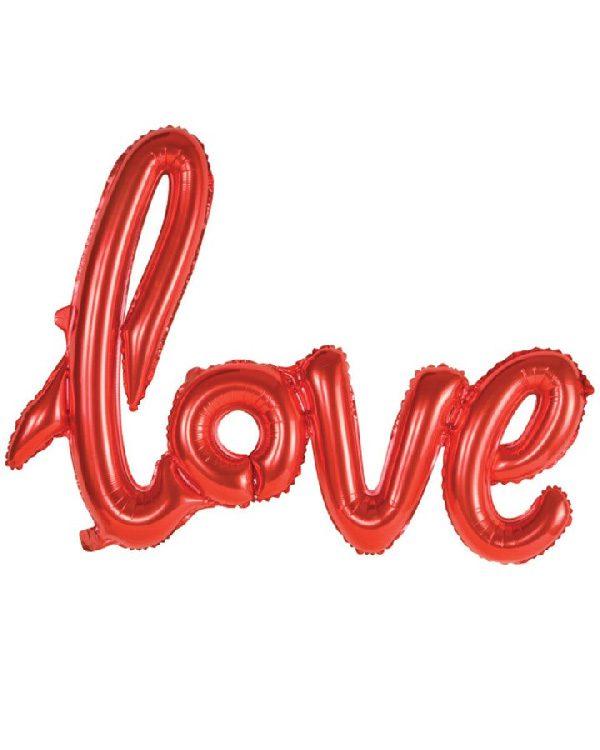 Bong bóng kiếng chữ Love màu đỏ