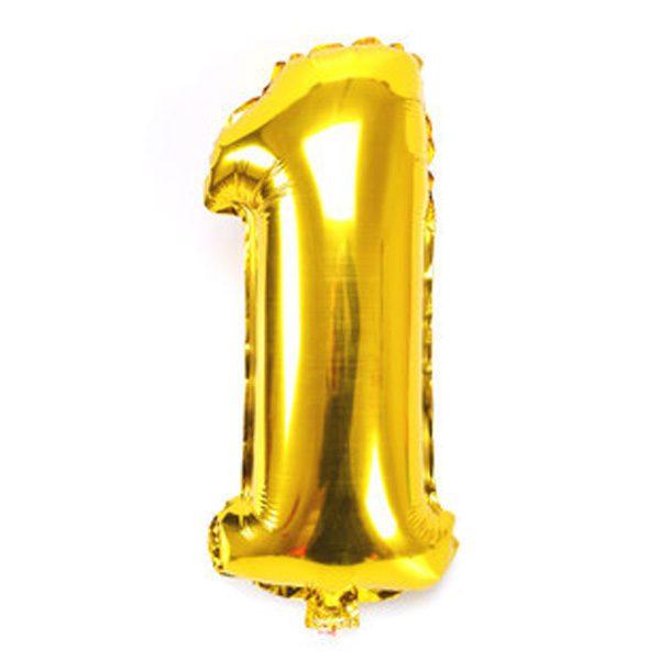 Bong bóng kiếng màu vàng số 1