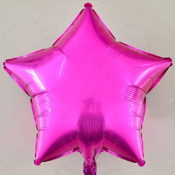Bong bóng kiếng ngôi sao lớn màu hồng sen
