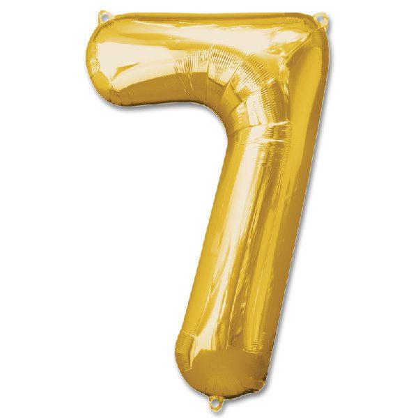 Bong bóng kiếng màu vàng số 7