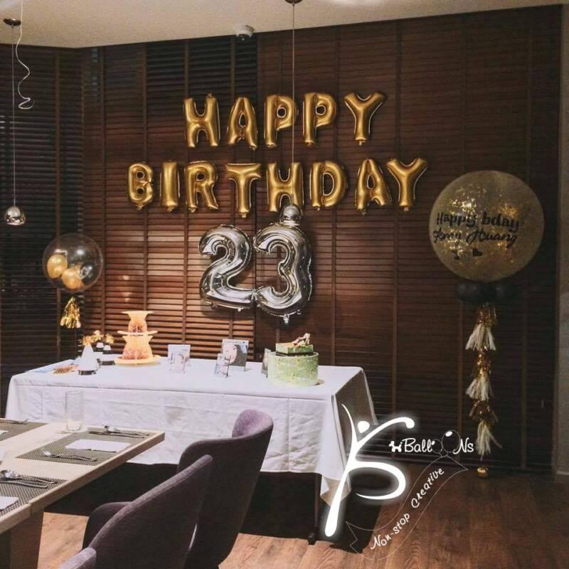 trang trí bong bóng jumbo cho sinh nhật