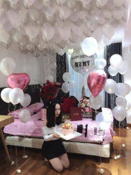 Trang trí bong bóng sinh nhật  cho người yêu