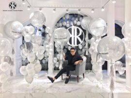 Trang trí bong bóng khai trương cho shop thời trang Chung Thanh Phong