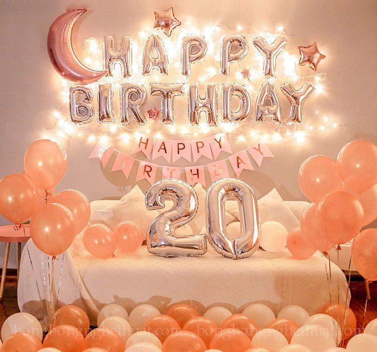 Trang trí bong bóng sinh nhật 20 tuổi tại nhà