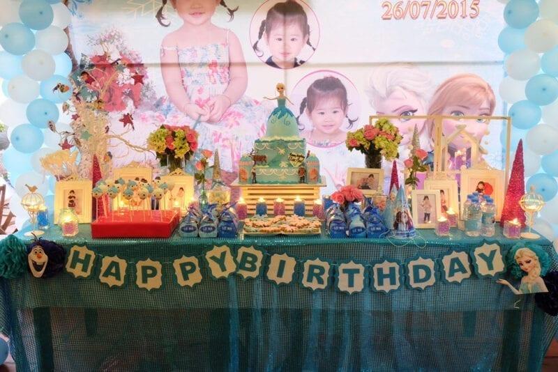 Trang trí sinh nhật 4 tuổi cho bé gái