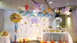 Trang trí sinh nhật cho bạn gái bằng bong bóng
